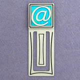 At Sign Engraved Bookmark