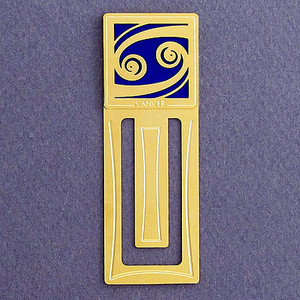Cancer Sign Engraved Bookmark