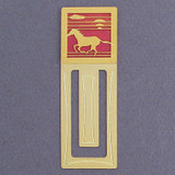 Mustang Horse Engraved Bookmark