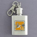 Hummingbird Keychain Flask