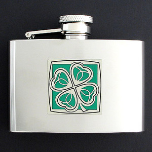 Lucky 4 Leaf Clover Liquor Flasks 4 Oz