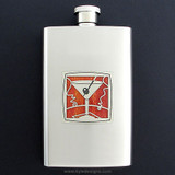 Martini Flask 4 Oz. Stainless Steel