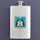 Cute Penguin Stainless Steel Flask 4 Oz. Mirror Finish