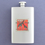 Giraffe Stainless Steel Flask 4 Oz. Mirror Finish