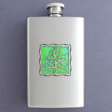 Tree Hip Flask 4 Oz Stainless Steel