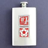 #1 Soccer Coach 4 Oz. Flask for Alcohol