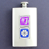 #1 Basketball Coach 4 Oz. Alcohol Flask