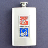 Unique Helicopter Pilot 4 Oz. Alcohol Flask