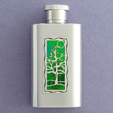 Tree Flask in 2 Oz Stainless Steel