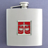 Lawyer or Attorney Personalized Drinking Flask 6 Oz. Polished