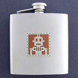 6 Oz Drinking Flasks with Androids