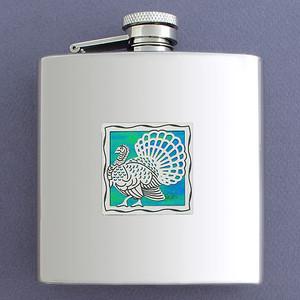Unique 6 Oz Wild Turkey Drinking Flasks