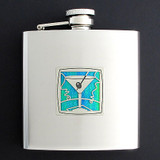 Stainless Steel Martini Flask 6 Oz. Polished