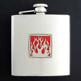 Stainless Steel Fire Liquor Flask 6 Oz. Polished