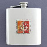 Tree of Life Drinking Flask 6 Oz. Mirror