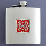 Firefighter Gift - 6 Oz Drinking Flask