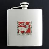 Deers Antlers 6 Oz Drinking Flasks