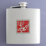 Bats Drinking Flask 6 Oz. Polished