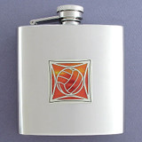 Volleyballs 6 Oz Drinking Flasks