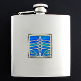 Rowing Drinking Flask 6 Oz.