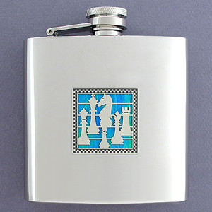 Chess Game 6 Oz Drinking Flasks