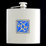 Vortex Stainless Steel Drinking Flask 6 Oz. Shiny Finish