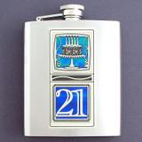 21st Birthday Flask 8 Oz
