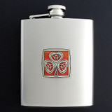 Irish Flasks 8 Oz. Stainless Steel