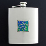 Stars Flask in 8 Oz. Stainless Steel