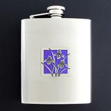 Bearded Irises Flasks 8 Oz. Stainless Steel