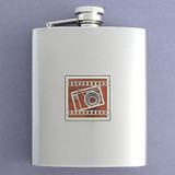 Photography Flask 8 Oz. Mirror Finish Stainless Steel