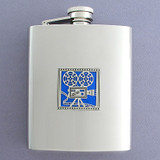 Stainless Steel Movie Projector Flask 8 Oz. Mirror Finish