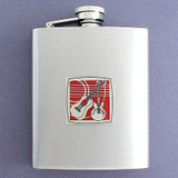 Guitar Flask in 8 Oz. Stainless Steel