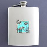 Sea Turtle Flask 8 Oz. Stainless Steel