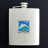 Dolphin Flasks in 8 Oz. Stainless Steel