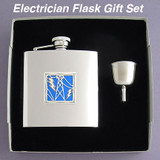 Stainless Steel 6 Oz Electrician Gifts Hip Flask Sets