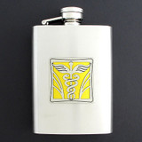 3 Oz Brushed Stainless Steel Medical Doctor Flasks