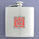 Skull Personalized 6 Oz Liquor Flasks
