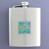 Open Book Flask in 8 Oz. Stainless Steel