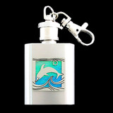 Dolphin Keychain Flask