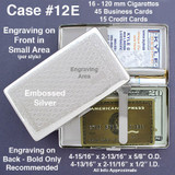 Embossed Deep Wallet Case for 120s Cigarettes - Double-sided