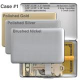 Small Metal Wallet - Gold, Silver, Nickel