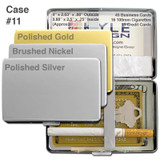 Thick Silver Credit Card Wallet / Cigarette Case