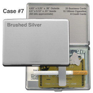 Blank Metal Euro Cigarette Cases in Bulk