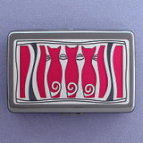 Three Cats Large Cigarette Cases or Credit Card Wallets