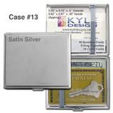Cubby Business Card Wallet Cigarette Case - Crush Proof, Elastic Strap