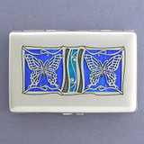 Butterflies Decorative Credit Card Wallets or Cigarette Cases