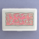 Vine Motif Decorative Metal Wallets or Cigarette Cases