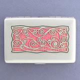 Vine Motif Decorative Metal Wallets or Cigarette Cases