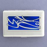 Contemporary Winds Design Cigarette Case or Metal Wallet